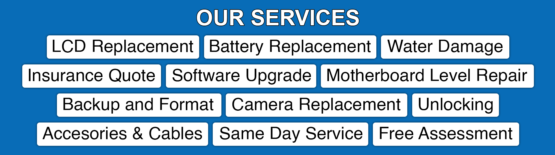 Services offered at GR Phones